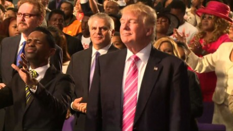 Donald Trump Speaks Emotional at a Black Church